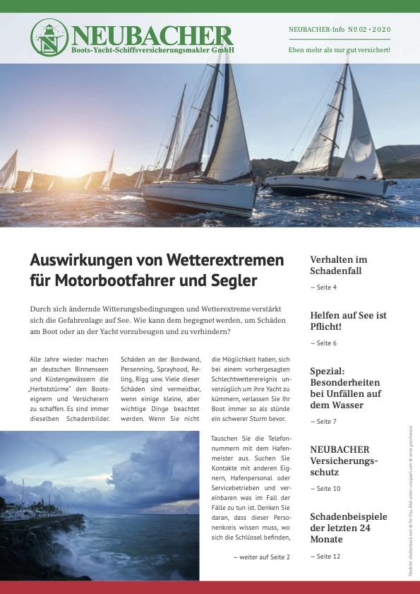 Kundenmagazin Neubacher Bootsversicherungen